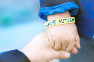 Child with autism wristband